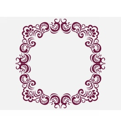 Royal frame with luxurious damask ornaments vector