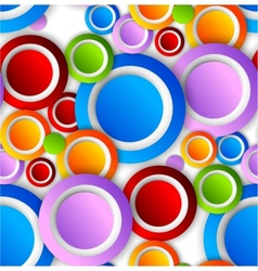Abstract pattern with colorful circles vector