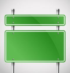 Blank green metal boards vector