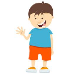 Cute kid boy cartoon character vector