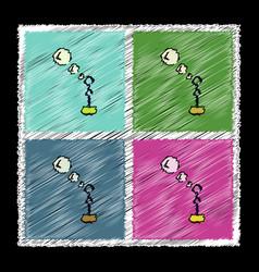 Set of flat shading style icons bubble stick vector