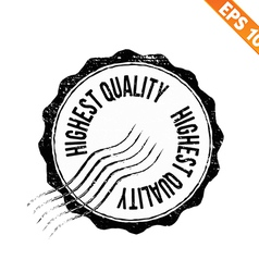Grunge highest quality guarantee rubber stamp - vector