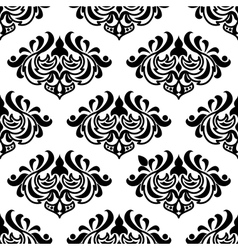 Seamless damask-style floral pattern vector image