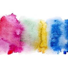 Colorful watercolor stains vector