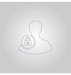 User login or authenticate icon vector image