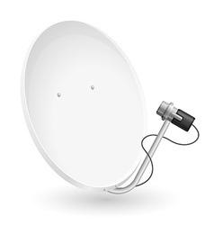 satellite dish 02 vector image