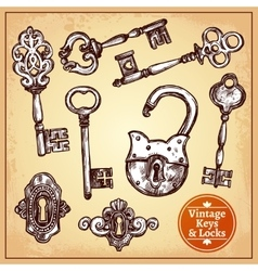 Locks And Keys vector image