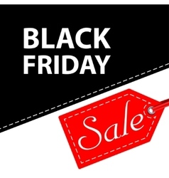Banner black friday sales vector