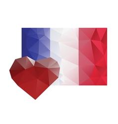 france flag heart love sorrow vector image