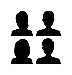 Young people avatar silhouette vector