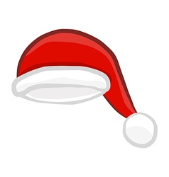 Santa hat isolated vector