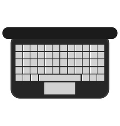 Laptop computer high view keyboard vector