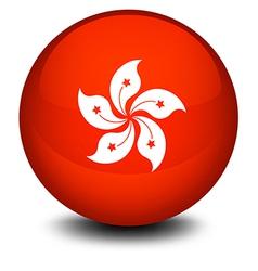A ball with the flag of hongkong vector