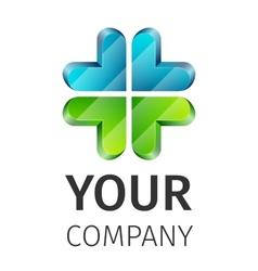 Abstract logo medical vector image