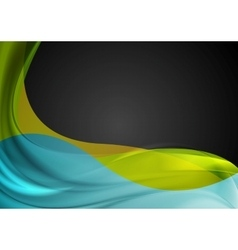 Abstract smooth colorful waves background vector