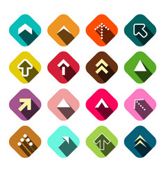 arrows set flat arrow icons vector image vector image