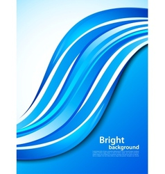 Background with blue wave vector image vector image