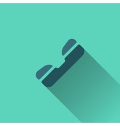 Blue phone icon Flat design vector image