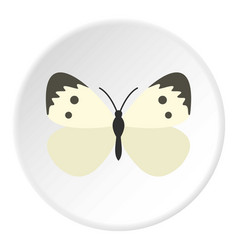 Butterfly with pattern on wings icon circle vector