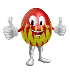 cartoon easter egg man vector image vector image