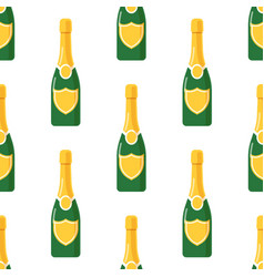 Champagne bottle seamless pattern vector