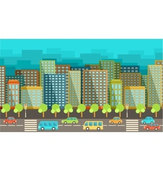 City in the style of flat design vector image vector image