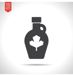 color flat maple syrup bottle template vector image