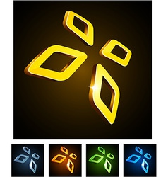Diamond vibrant emblems vector image