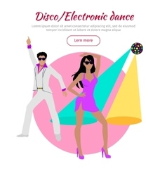 Disco and electronic dance conceptual banner vector