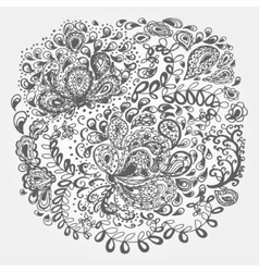 Floral doodle tattoo design vector