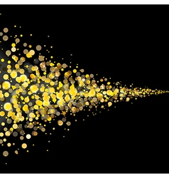 Gold glittering stars tail dust vector