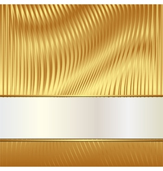 golden backgroun vector image vector image