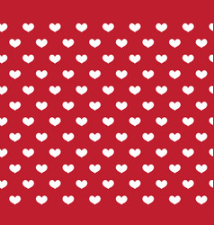 heart seamless pattern love repeating texture vector image vector image