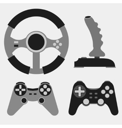 Joystick flat icons - vector image vector image