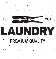 laundry logo emblem design element vector image