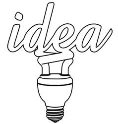 light bulb idea outline vector image
