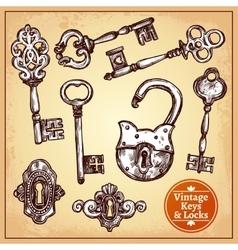 Locks And Keys vector image