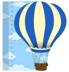 Measuring height scales on paper with balloon vector