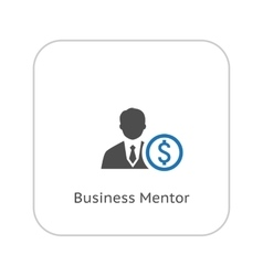 Mentor icon business concept flat design vector