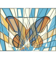 Mosaic butterfly vector image