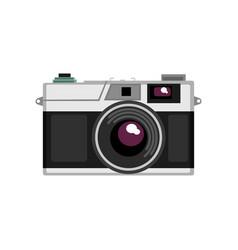 old rangefinder camera on a vector image