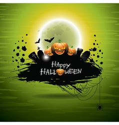 on a Halloween theme on green backgro vector image