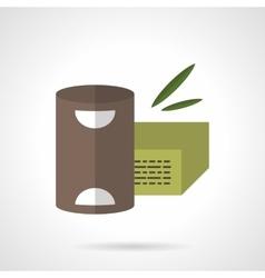 Organic food flat color design icon vector image vector image