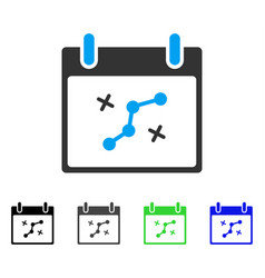 Path points calendar day flat icon vector