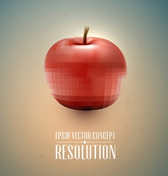Resolution concept - apple health vector