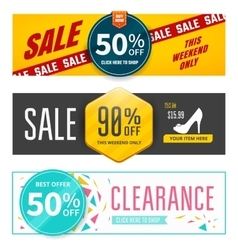 Sale banners design vector image vector image