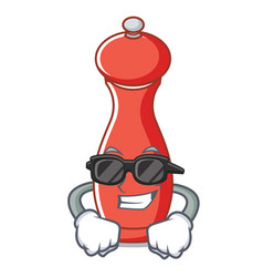 Super cool pepper mill character cartoon vector