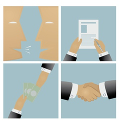 The sale process and conclusion of the contract vector