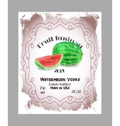 Vintage fruit alcohol labels vector