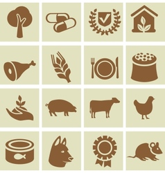 Set of agricultural icons vector
